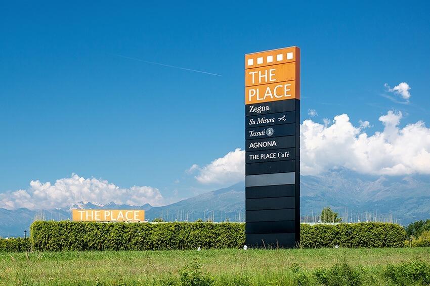 Ingresso The Place, Sandigliano a Biella